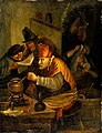 An alchemist. Oil painting after Jan Havicksz. Steen. Wellcome V0017674.jpg