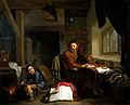 An alchemist making gold. Oil painting by Hendrik Heerschop, Wellcome V0017663.jpg
