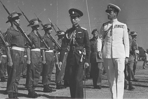King Ananda Mahidol and Lord Louis Mountbatten in Bangkok, 19 January 1946 Ananda Mahidol and Louis Mountbatten in 19 January 1946.jpg