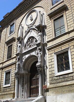Italiano: Ancona, Italy. Portale della chiesa ...