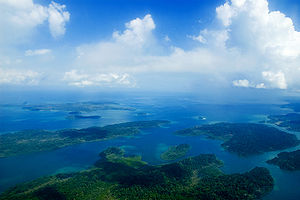 Andaman and Nicobar Islands - Aerial view of the Andaman Islands.