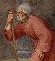 Andrea del sarto, Devozione dei fiorentini alle reliquie di san Filippo, 1510, 08 vecchio, ritratto di andrea della robbia - dett.jpg