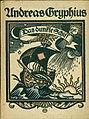 Andreas Gryphius - Das dunkle Schiff. Auserlesene Sonette, Gedichte, Epigramme, 1921.jpg