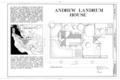 Andrew Landrum House, 1217 Santa Clara Street, Santa Clara, Santa Clara County, CA HABS CAL,43-SANCLA,1- (sheet 1 of 3).png