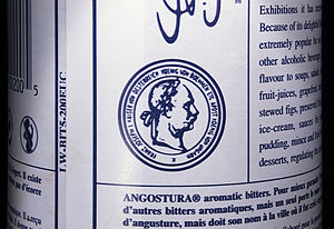 Angostura bitters - Emperor Franz Joseph I of Austria is shown on the label, since Angostura won a medal at the 1873 World Fair in Vienna.