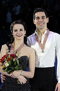 Anna Cappellini and Luca Lanotte at the 2016 European Championships - Awarding ceremony.jpg