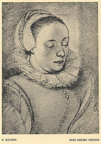 Anna Visscher - Drawing with imaginary title Anna Roemers Visscher