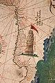 Anonimo portoghese, carta navale per le isole nuovamente trovate in la parte dell'india (de cantino), 1501-02 (bibl. estense) 14 faro di alessandria.jpg