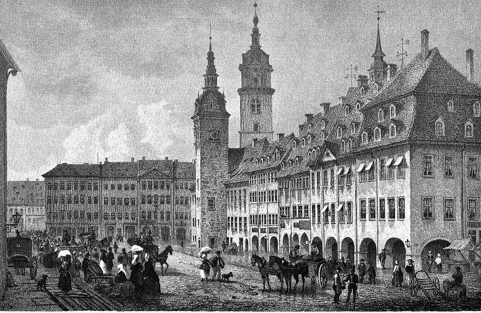 Ansicht Chemnitz um 1850