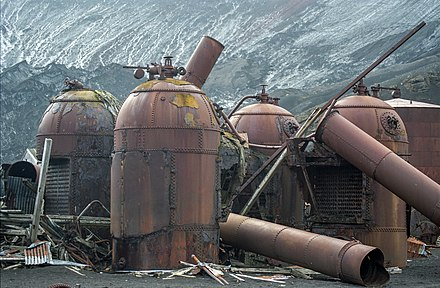 Remains of the whaling station's boilers Antarctic, Deception Island (js) 43.jpg