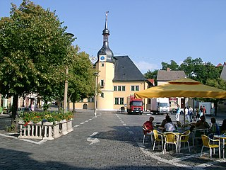 Apolda Place in Thuringia, Germany