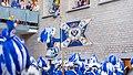 Appell Kölner Funken Artillerie blau weiß von 1870 im Kölner Rathaus - Weiberfastnacht 2019-5833.jpg