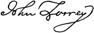 Torreys Unterschrift