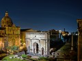 Arch of Septimius Severus (Rome) in the night.jpg