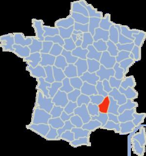 Communes of the Ardèche department - Image: Ardèche Position