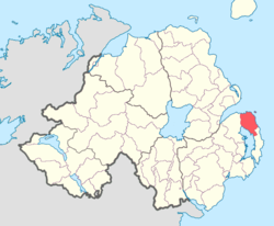 Location of Ards Lower, County Down, Northern Ireland.
