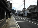 Arita Akaemachi potteries and porcelain stores street 01.JPG