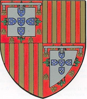 Armorial of the Capetian dynasty - Image: Armas Jaime Coimbra