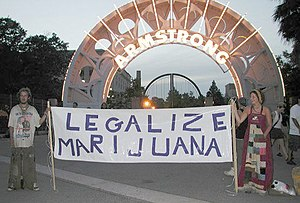 Millennials - Two early Millennials advocate for the legalization of marijuana at a 2001 event.