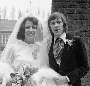 Arnold Mühren - Arnold Mühren and Gerrie Kroon getting married on 12 March 1974