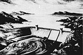 Artist's rendition of Rampart Canyon Dam.jpg