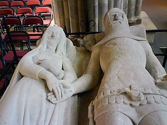 Eleanor of Lancaster - The memorial effigy of Eleanor and Richard Fitzalan in Chichester Cathedral.