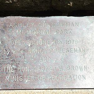 Ashley Cheeseman Memorial Park - Image: Ashley Cheeseman