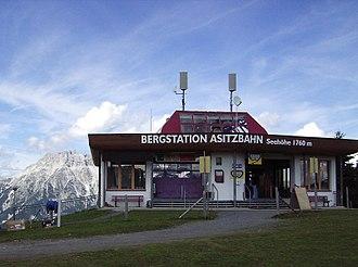 Leogang - Image: Asitz Bahn Berg Station