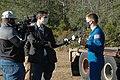 Astronaut Matthew Dominick speaks with media representatives prior to the SLS Green Run Test 02.jpg