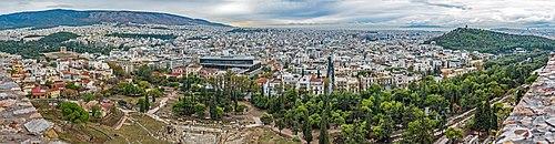 Panorama af Athen fra Akropolis 2017