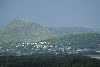 Atholville, New Brunswick - View of Sugarloaf from Atholville