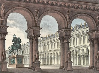 Ugo, conte di Parigi - Set design by Alessandro Sanquirico for the premiere of Ugo, conte di Parigi (1832)