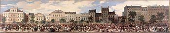 Attentat de Fieschi, on 28 July 1835. By Eugène Lami, 1845. Château de Versailles.
