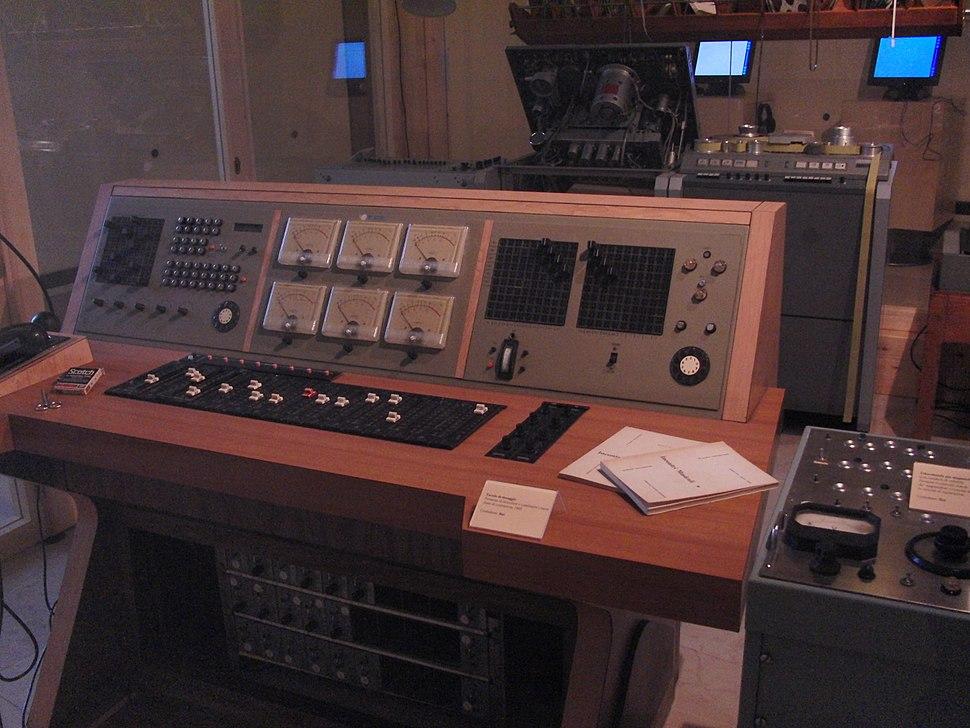 Audio console at Studio di Fonologia Musicale RAI di Milano