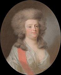 Augusta Maria Carolina van Nassau-Weilburg (1764-1802). Nicht van Willem V, prins van Oranje-Nassau, dochter van zijn zuster Carolina