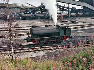 Hunslet Austerity 0-6-0ST - Austerity at Bickershaw Colliery, Greater Manchester