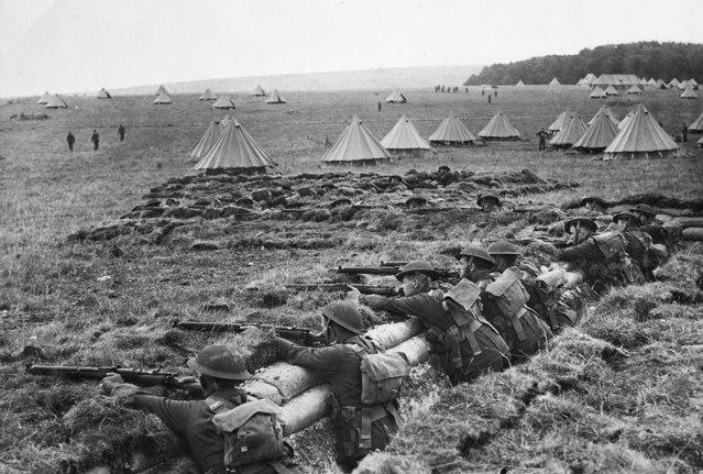 Australian soldiers training on the Salisbury Plain in June 1940