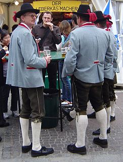 Tracht traditional garment in German-speaking countries, especially in Bavaria and Austria