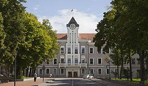 Szawle: Ayuntamiento de Siauliai, Lituania, 2012-08-09, DD 02