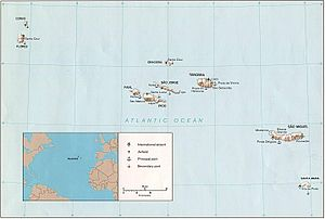 Postage stamps and postal history of the Azores - Map of the Azores
