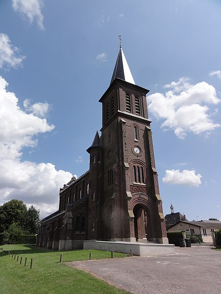 Béthancourt-en-Veaux (Aisne) église Saint-Médard