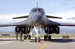 B-1B Lancer Awaits Inspection.JPG