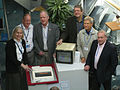 BBC Micro creators with birthday cake in 2012.jpg
