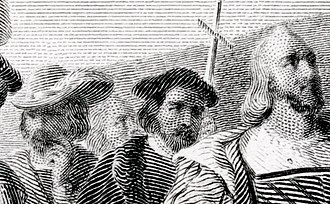 Steel engraving - Detail of the image below; click to enlarge further