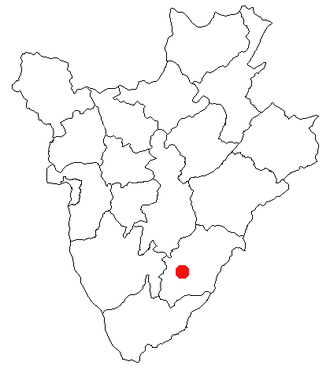 Rutana - Location of Rutana in Burundi