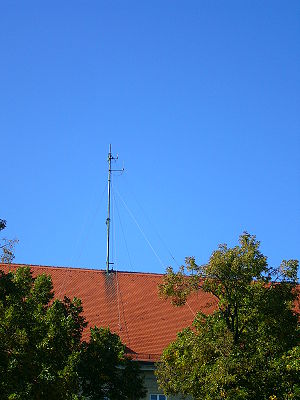 Police radio - Antenna of the Bavarian State Police, Germany.