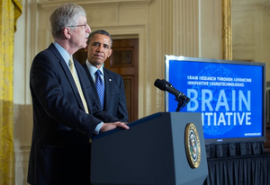 BRAIN Initiative - NIH Director Dr. Francis Collins and President Barack Obama announcing the BRAIN Initiative