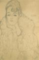 BRUSTBILD EINER DAME VON VORNE (PORTRAIT OF A LADY, FRONTAL VIEW).PNG