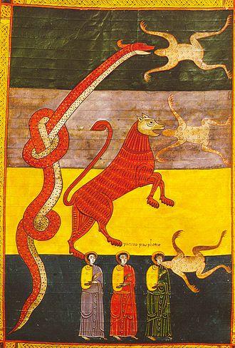 False prophet - Fate of The False Prophet, Revelation 16, Beatus de Facundus, 1047
