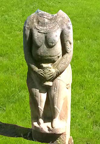 Kurgan stelae - Kurgan stele (baba) near Luhansk